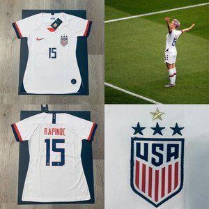 Rapinoe %2315 nike women soccer jersey USA Home